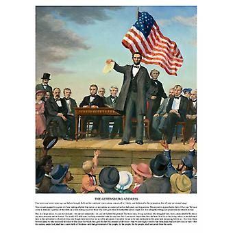 La stampa di Poster indirizzo di Gettysburg di Carl Braude (18 x 24)