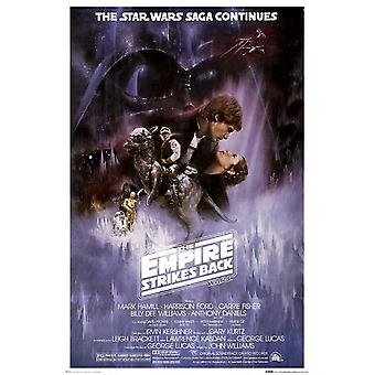 The Empire Strikes Back Star Wars Poster Poster Print