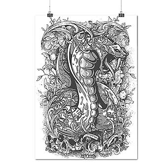 Matte or Glossy Poster with Horror Snake Dead Fantasy | Wellcoda | *d1269
