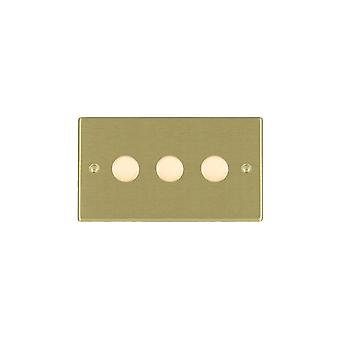 Hamilton Litestat Hartland Satin Brass 3g 400W 2 Way Dimmer SB