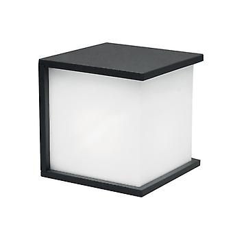 Cube Graphite Aluminium Wall Light With Opal Glass - Elstead Lighting Ut/boxcube 1846