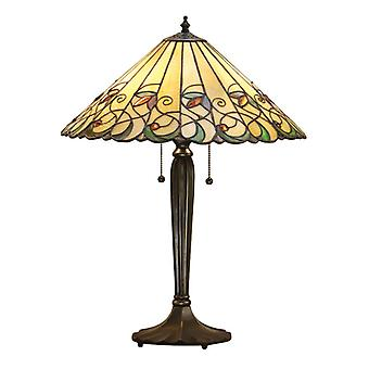 Jamelia Medium Tiffany stil bordslampa - interiör 1900 64197