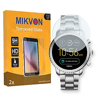 Fossil Q Explorist 3. Gen Screen Protector - Mikvon flexible Tempered Glass 9H (Retail Package with accessories)