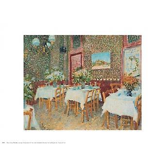 Interior of a Restaurant Poster Print by Vincent van Gogh (30 x 24)