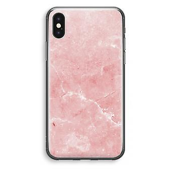 iPhone X Transparant Case - Pink Marble