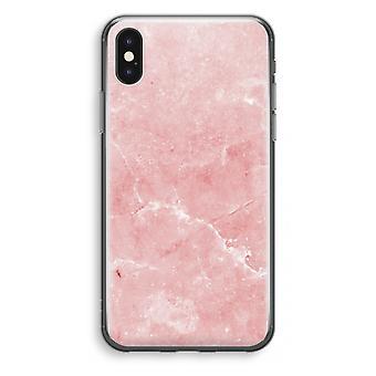 Iphoneskal X Transparant (Soft) - rosa marmor