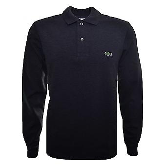 Lacoste Men's Classic Fit Dark Grey Long Sleeved Polo Shirt
