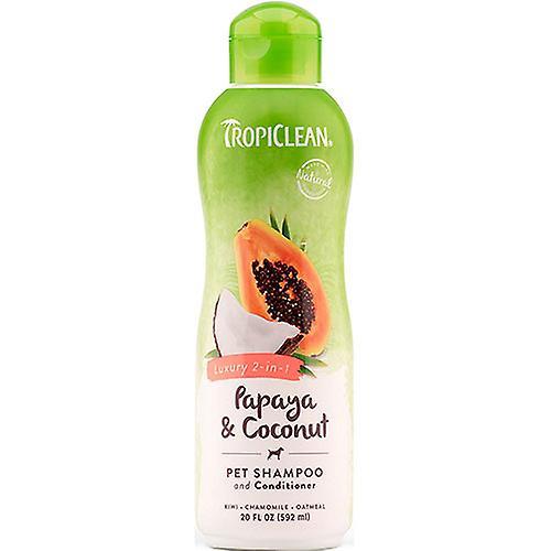 Tropiclean Luxury 2-in-1 Papaya & Coconut Pet Shampoo