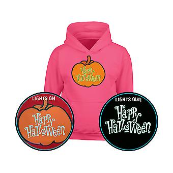 Happy Halloween GLOW IN THE DARK Pumpkin Kids Hoodie 10 Farben (S-XL) von swagwear