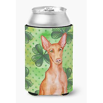 Carolines Treasures  BB9889CC Pharaoh Hound St Patrick's Can or Bottle Hugger