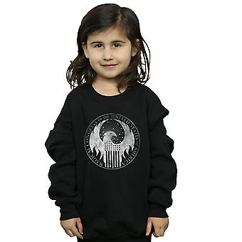 Fantastic Beasts Girls Distressed Magical Congress Sweatshirt