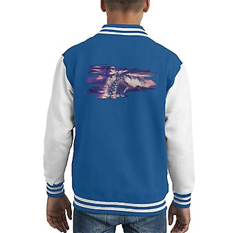 Freddie Mercury Of Queen Its A Hard Life Shoot 1984 Purple Flare Kid's Varsity Jacket