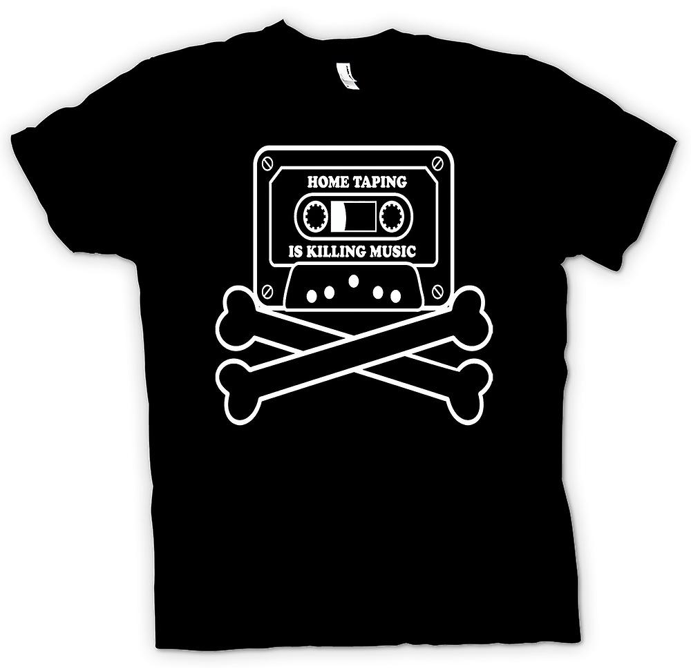 Mens T-shirt - Home Taping Piraterie - lustig