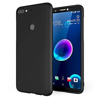 HTC Desire 12 Plus mate TPU Gel - sólido negro