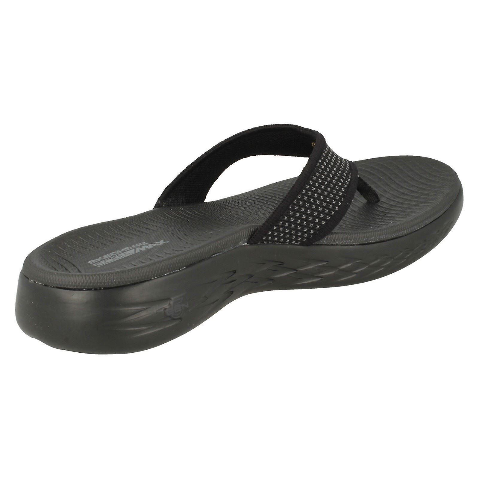 official photos b12c3 c3c05 Damen Skechers Casual Slip-on Flip Flops auf gehen 600 15300 - schwarze  Textil - UK Größe 6 - EU Größe 39 - US Größe 9