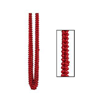 Metallic röd Party pärlor