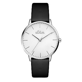 s.Oliver kvinnors watch armbandsur läder SO-3440-LQ