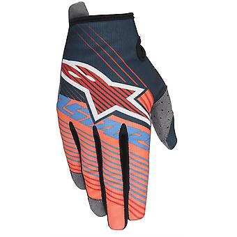 Alpinestars Aqua-Orange 2017 Radar Tracker Kids MX Gloves