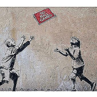 Banksy No Ball Games Drinks Mat / Coaster