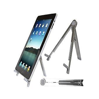 Portable Lightweight Universal Foldable Desk Stand For IPad Notebooks Laptops Netbooks & Tablet PCs - Silver