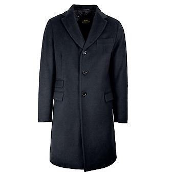 CC Collection Corneliani CC Collection Corneliani Navy Blue Wool-Blend Coat