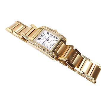 Gold Geneve Italy watch with diamonds