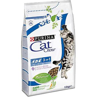 Cat Chow Feline 3 in 1 Rich in Turkey (Cats , Cat Food , Dry Food)
