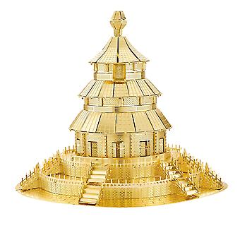 3D Model construction kit in Metal (architecture, Gold)