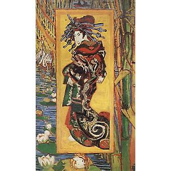 Oiran, Vincent Van Gogh, 80x40cm