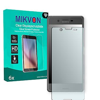 Sony Xperia X Screen Protector - Mikvon Clear (Retail Package with accessories) (reduced foil)