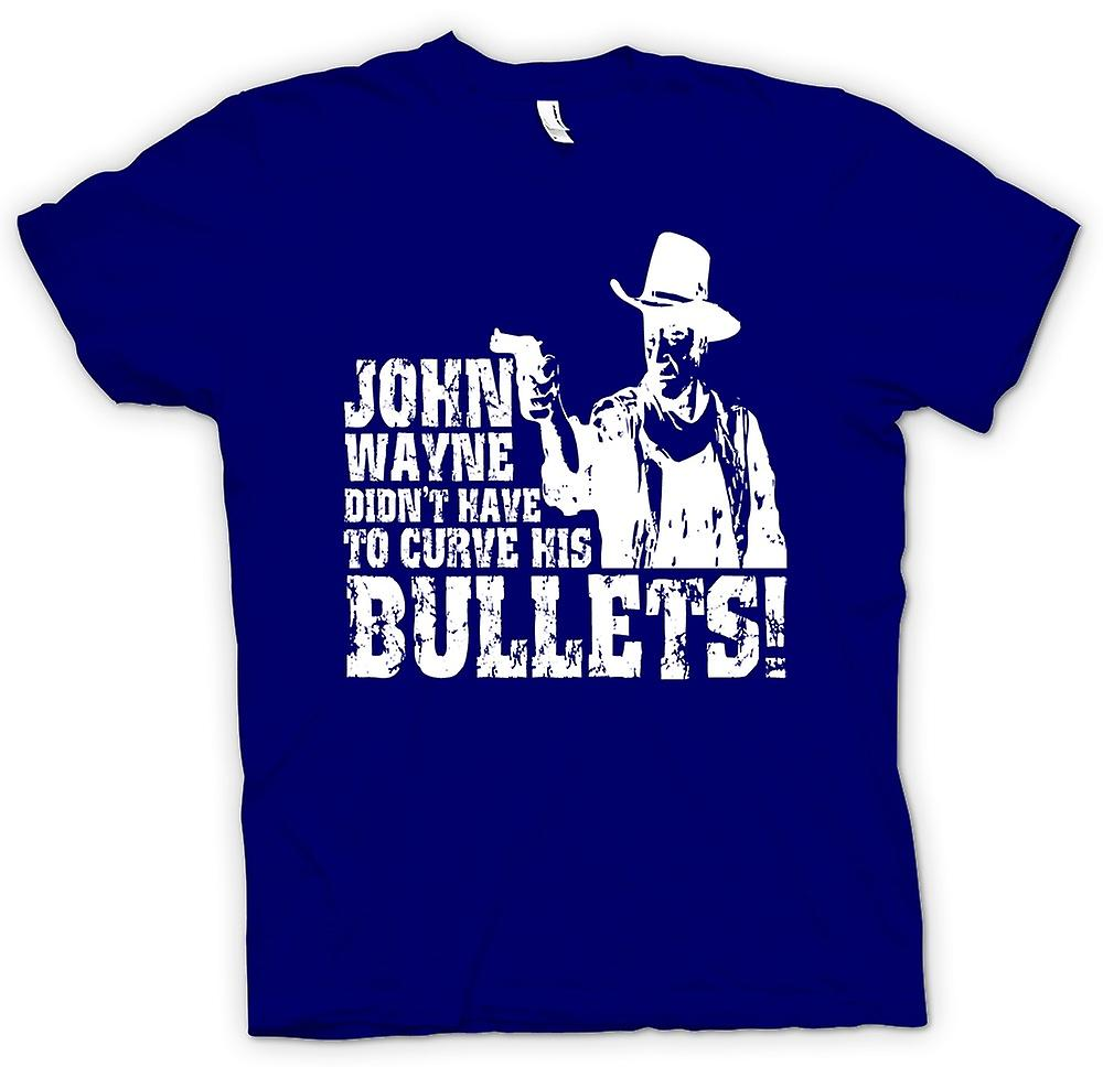 Mens T-shirt - John Wayne Curved - Cowboy