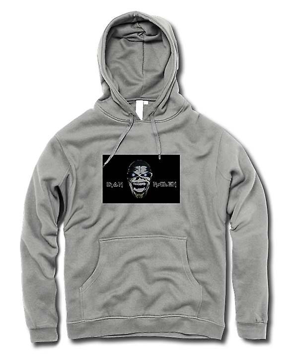 Mens Hoodie - Iron Maiden - Eddie Logo