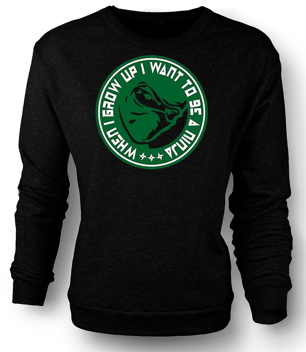 Mens Sweatshirt ik wil worden A Ninja - Funny