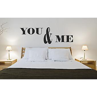 You and Me Bedroom Wall sticker Quote