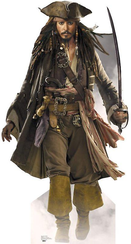 Johnny Depp As Captain Jack Sparrow  (Pirates Of The Caribbean) - Lifesize Cardboard Cutout / Standee