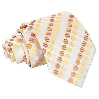 Cravate classique or jaune pois Pastel