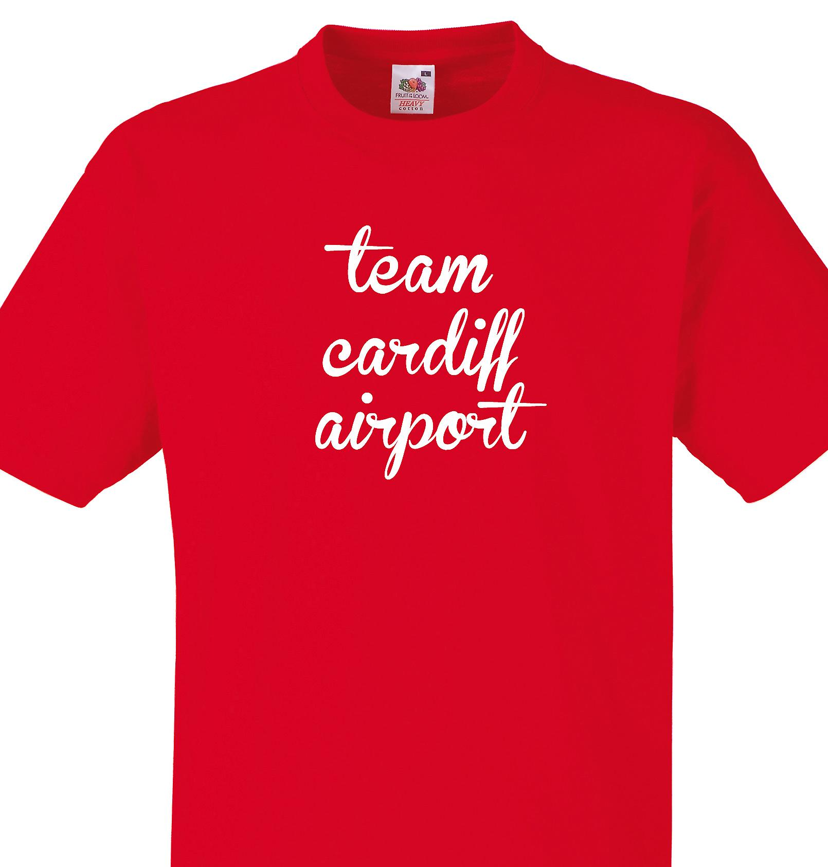Team Cardiff airport Red T shirt
