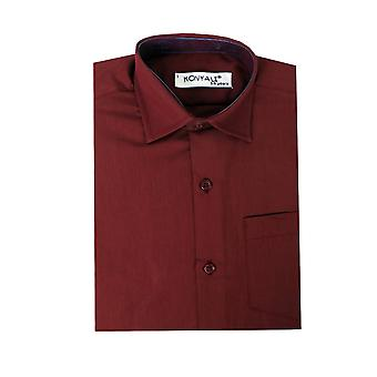 Boys Cotton Formal Burgundy Shirt