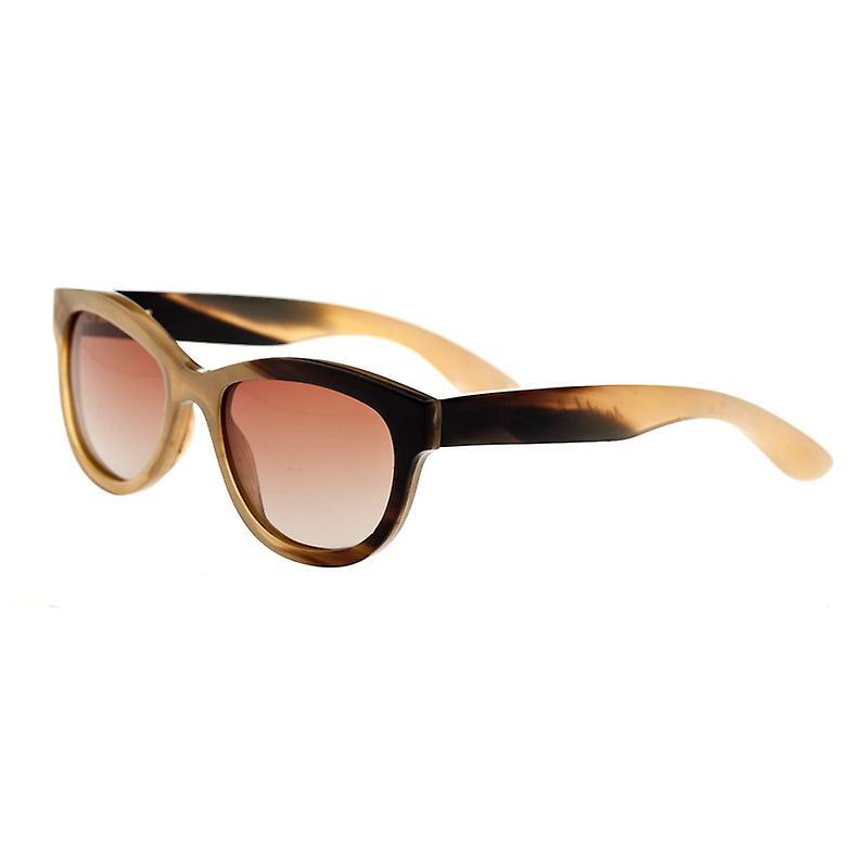 Bertha Carly-corne de buffle Polarized lunettes de soleil - miel-noir brun