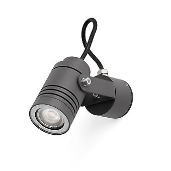 Faro - verlicht donker grijs buiten muur Spotlight FARO70260