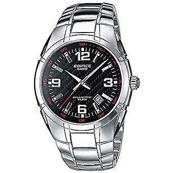 Casio men's analog quartz watch with stainless steel band EF-125D-1av