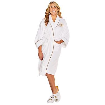 Womens Harry Potter Golden Snitch Fleece Bathrobe Dressing Gown Official Merchandise