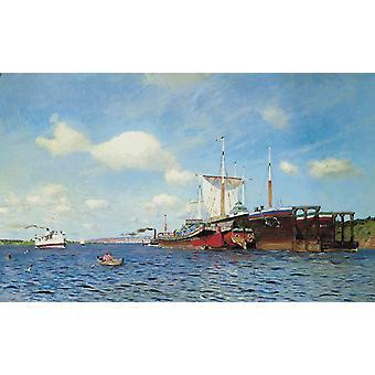Paysage, Isaac Levitan, 60x37cm