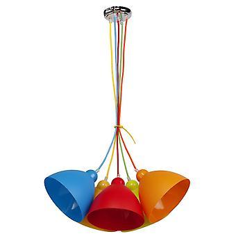 Glasberg - pendentif multicolore cinq légers pour enfants 365014505