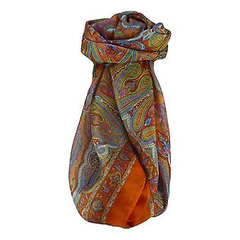 Mulberry Silk Traditional Square Scarf Queta Terracotta by Pashmina & Silk
