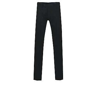 Dobell Mens Black Suit Trousers Regular Fit
