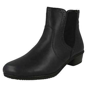 Ladies Rieker Fleece Lined Ankle Boots Y0771