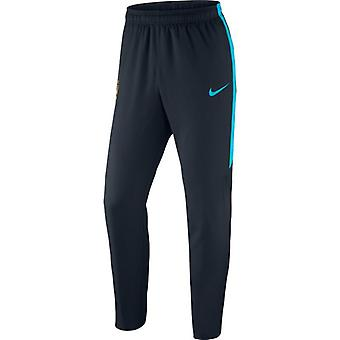 2015-2016 Man City Nike gewebte Hose (Navy)