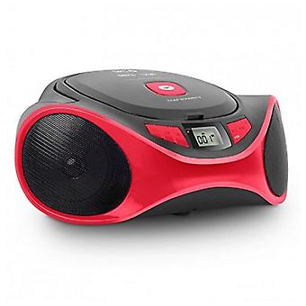 Radio-CD MP3 BOOMBOX USB rosso CLAM 4501R SPC
