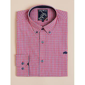 Long Sleeve Micro Check Shirt - Vivid Pink